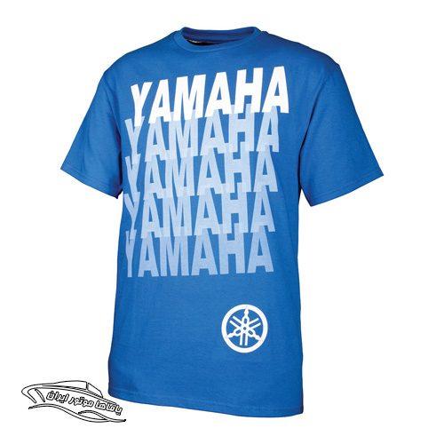 تی شرت آبی طرح دار یاماها
