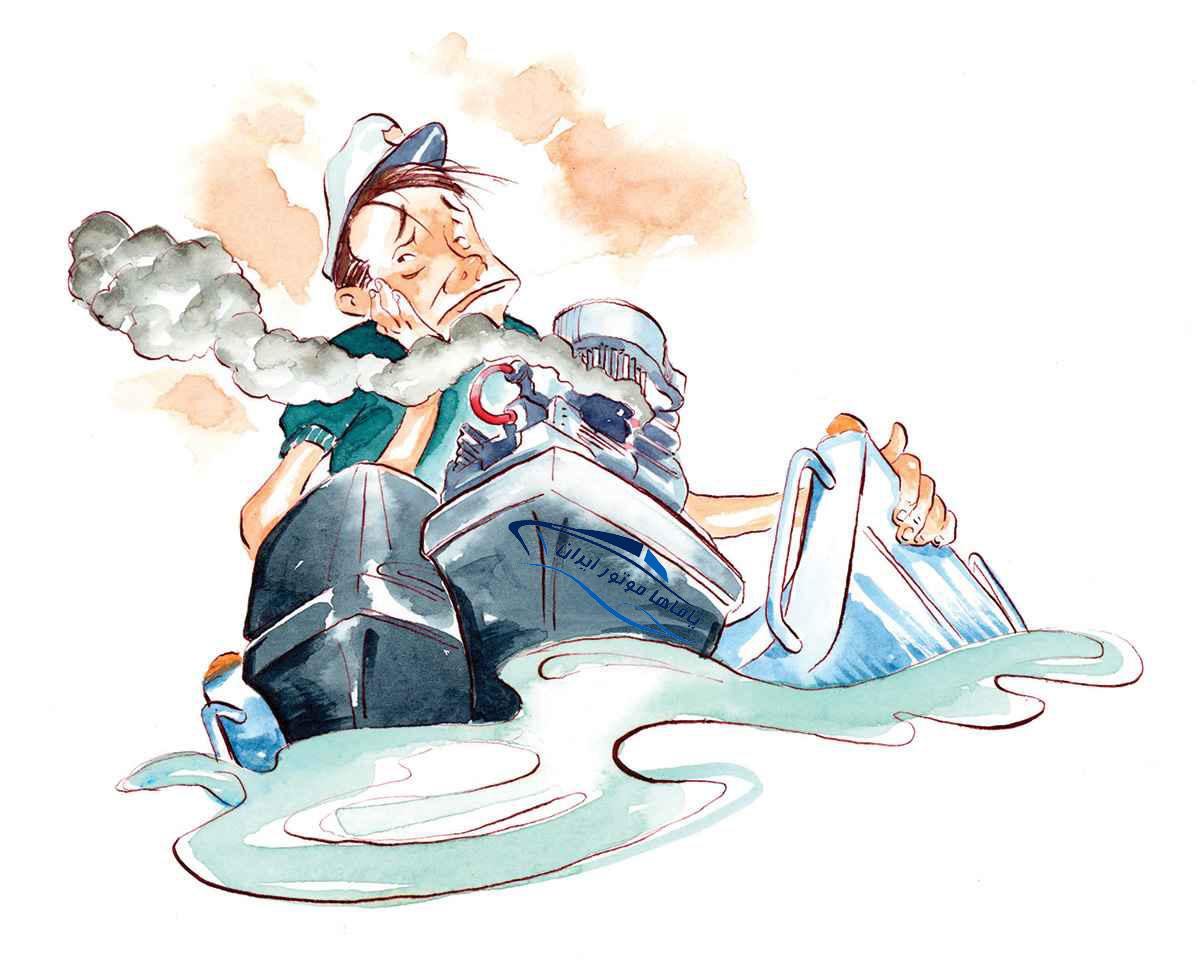 تعمیر موتور قایق